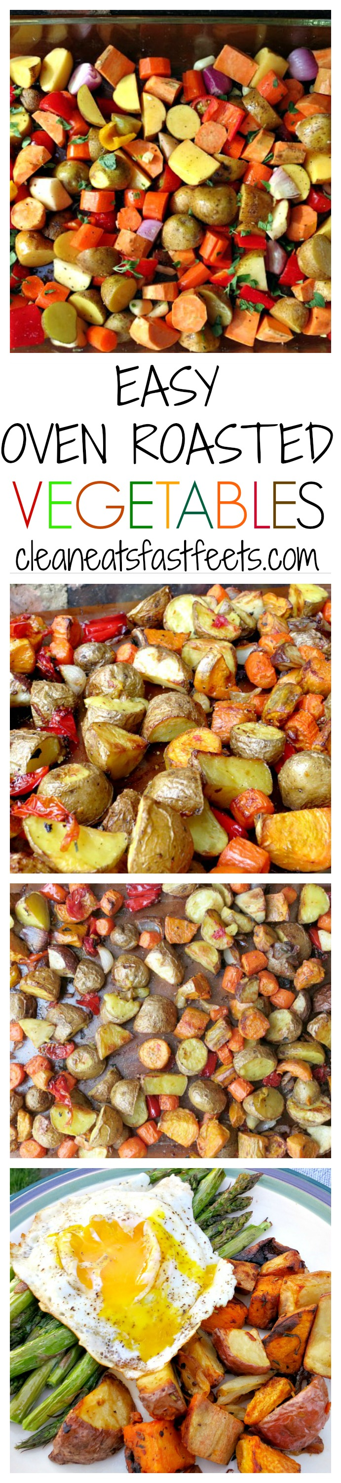 A quick and easy method to roast veggies in the oven. Make a big batch one time and live off the leftovers all week.