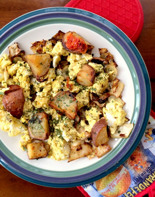 Breakfast Salad with Three Eggs