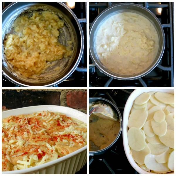 Cheese Sauce & Scalloped Potato Collage