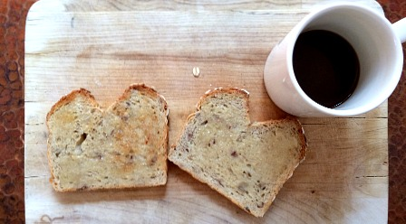 Granola Bread Toast & Coffee
