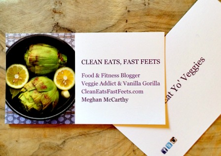Clean Eats Fast Feets Business Cards 2