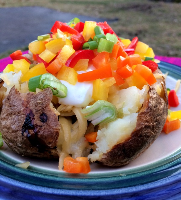Sauteed Vegetable Stuffed Potato