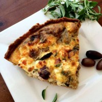 The Greek Quiche Recipe: Artichokes, Kalamata Olives, Sun-Dried Tomatoes, & Feta