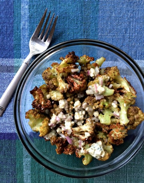 Roasted Cauliflower with Blue Cheese Vinaigrette