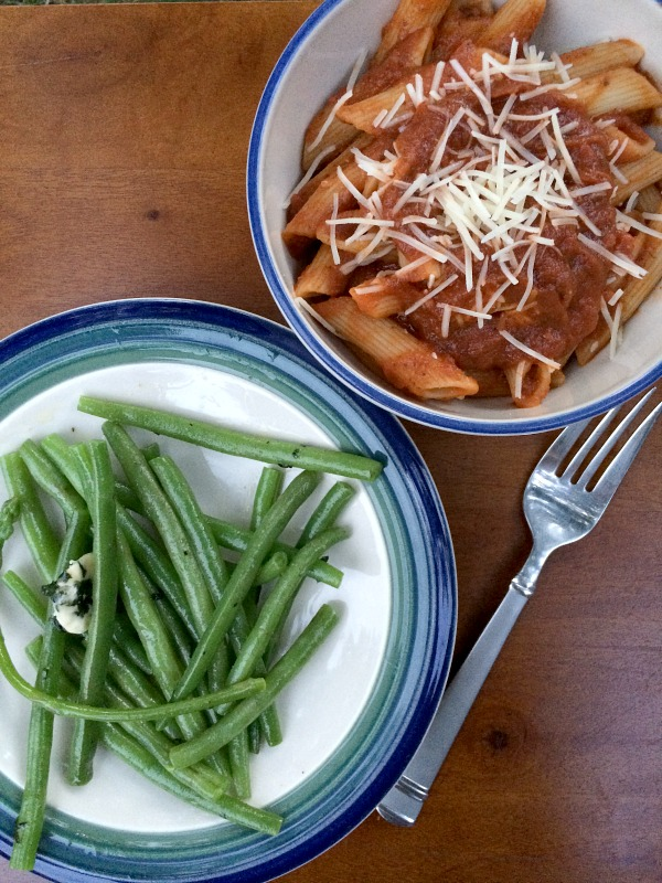 Pasta and Green Beans