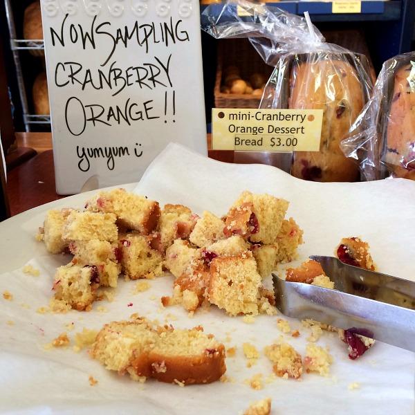 Cranberry Orange Dessert Bread Samples
