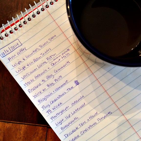 Christmas List December 6, 2014