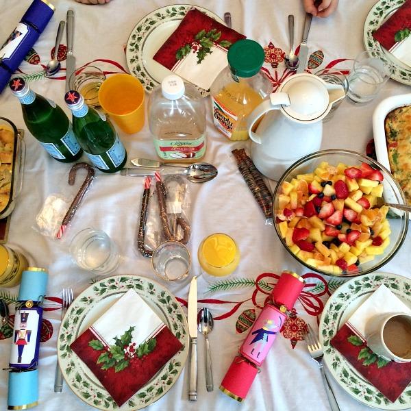 Christmas Morning Breakfast Table