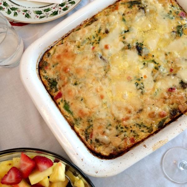 Christmas Morning Veggie Frittata