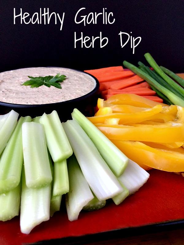 Healthy Garlic Herb Dip