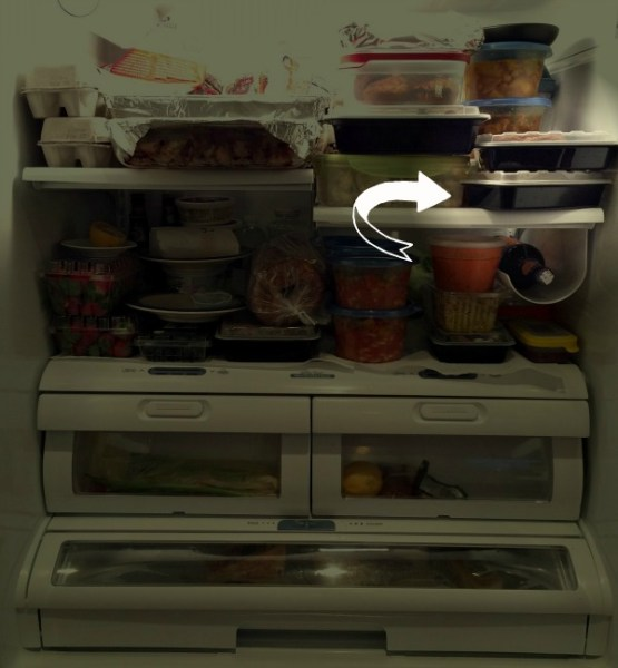 Packed Fridge Out of Line Container