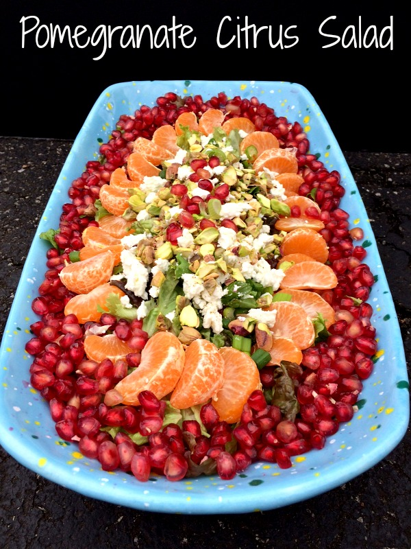 Pomegranate Citrus Salad Text