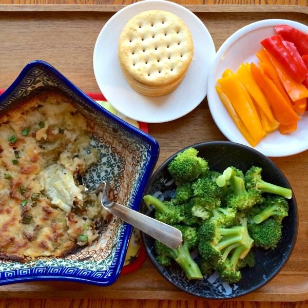 Artichoke Cheese Dip Tray