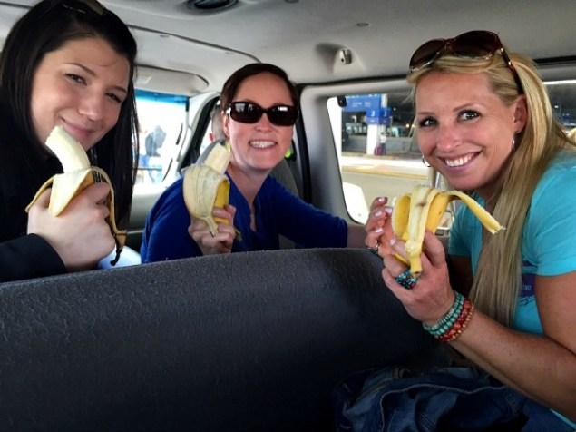 Amanda, Meg and Lucie Public Bananas at Blend 2015