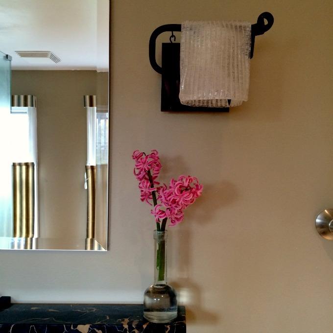 Bathroom Mirror and Light Fixture
