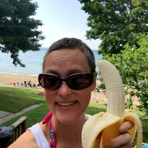 Meg Public Banana on a Beach