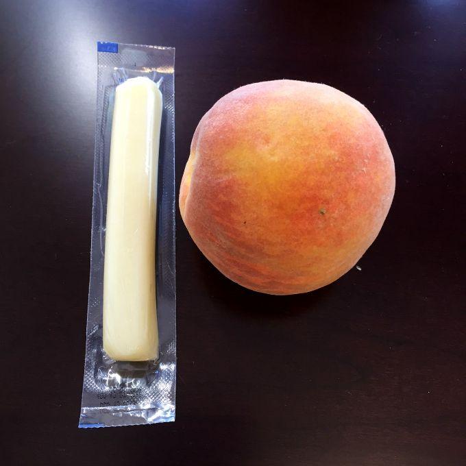 Cheese Stick and A Peach