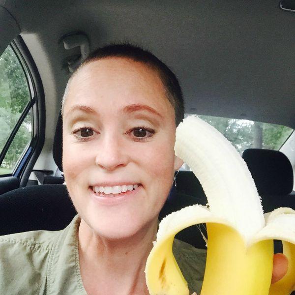 Meg Public Banana in the Car