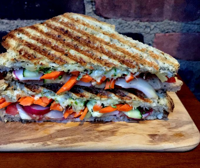 A simple and scrumptious vegetable packed Panini recipe perfect for an easy weeknight meal.