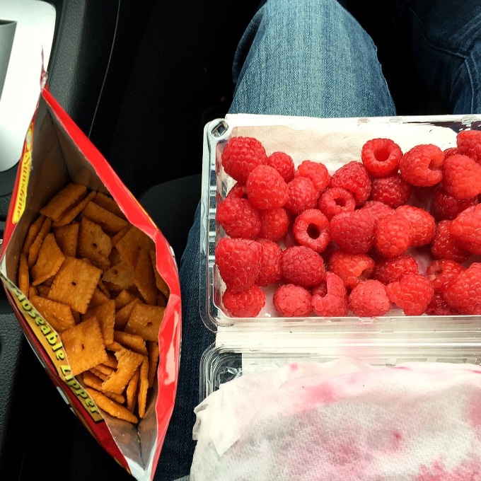 Cheez Its and Raspberries