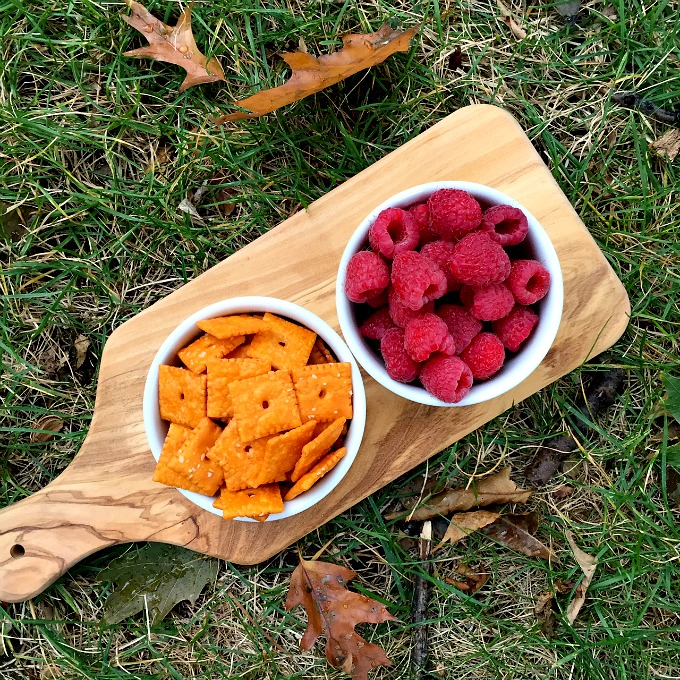 Raspberries and Cheez Its