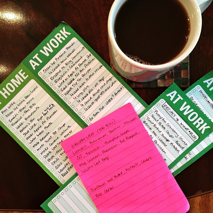 Saturday Morning To Do Lists 10-10-15
