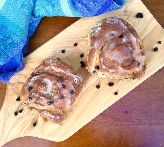 Blueberry Cream Cheese Buns with Lemon Zest B