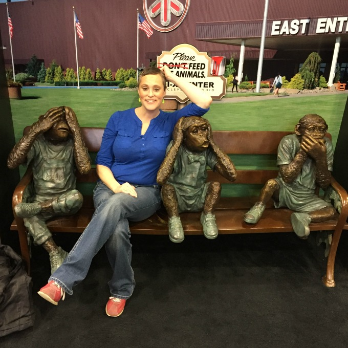 Meg Monkeying Around at the Food Show