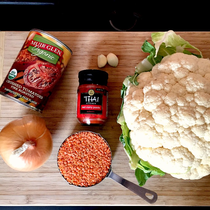 Curried Cauliflower and Lentil Soup Ingredients