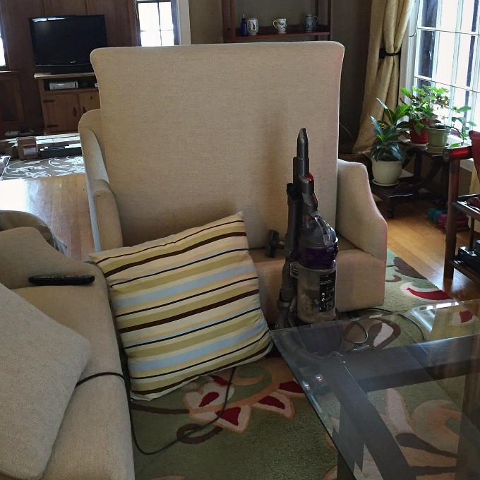 Vacuuming Living Room Furniture