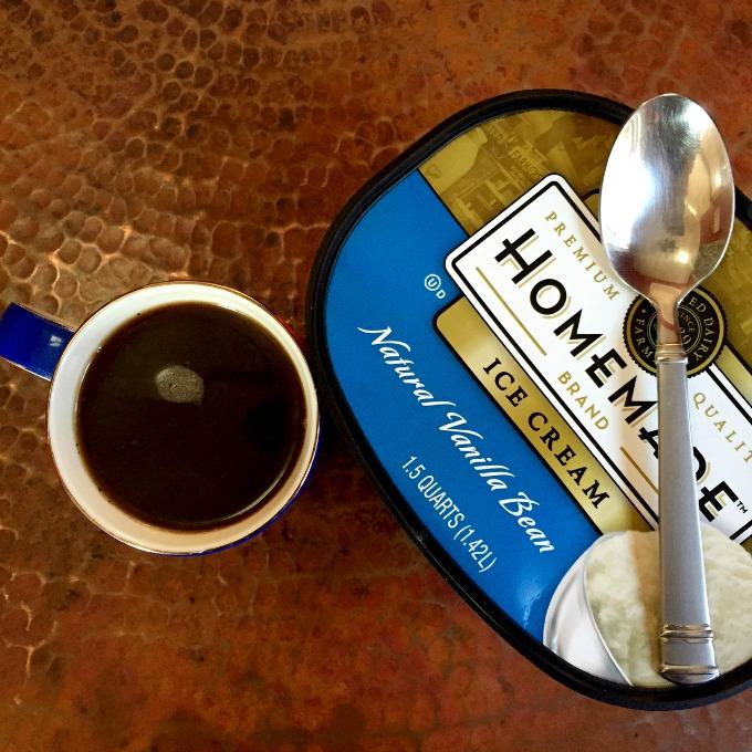 Coffee and Vanilla Ice Cream