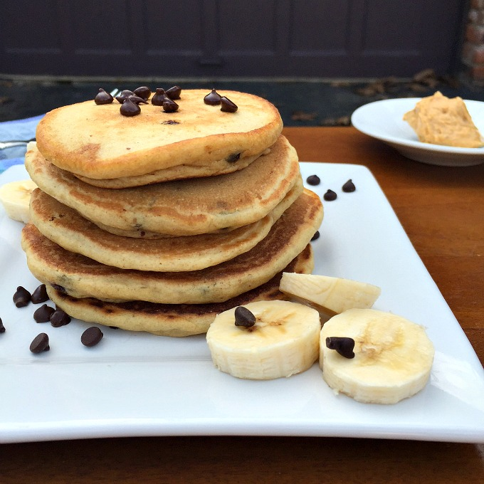 Peanut Butter Pancakes in the Driveway