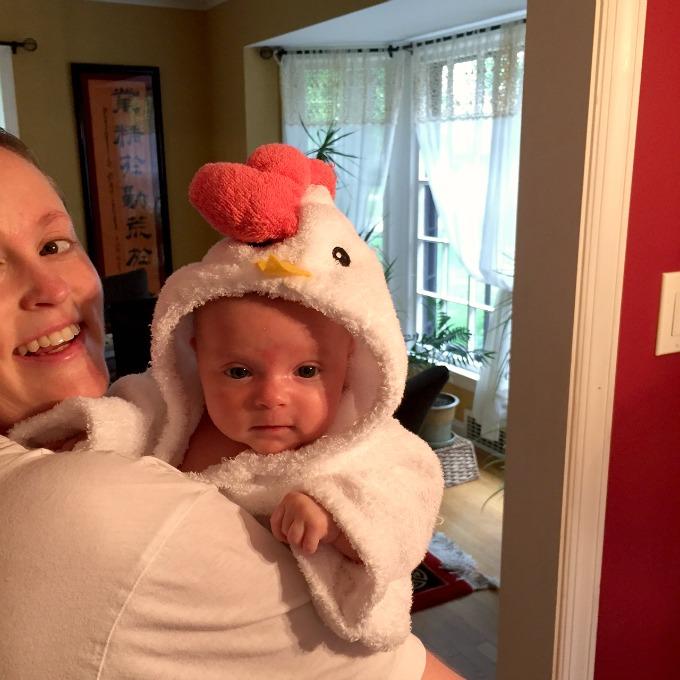 Ave in Chicken Robe