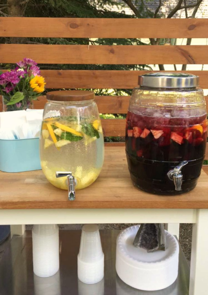 Barbecue - Lemon Pineapple Mint Water and Sangria