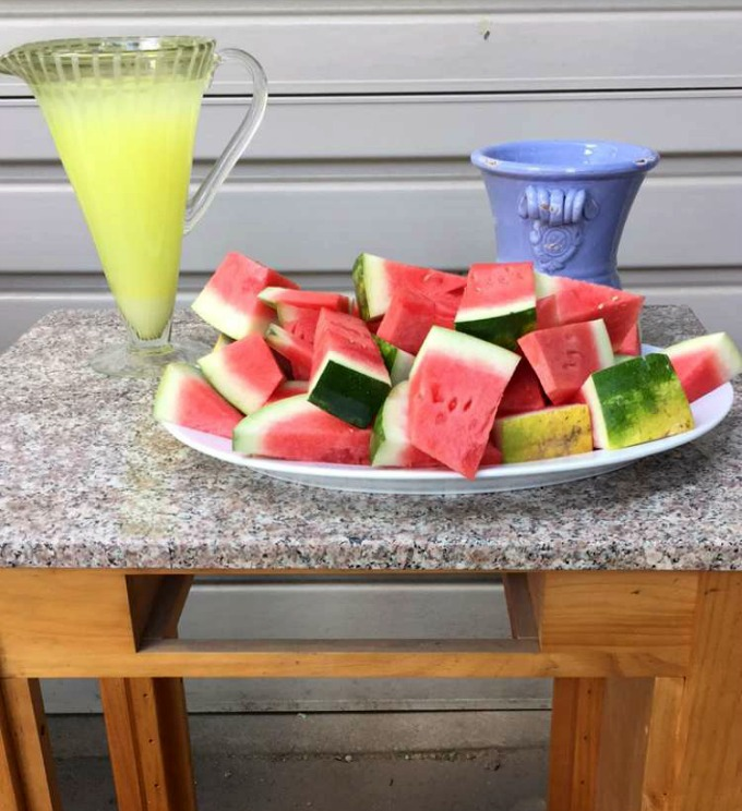 Barbecue Watermelon and Lemonade