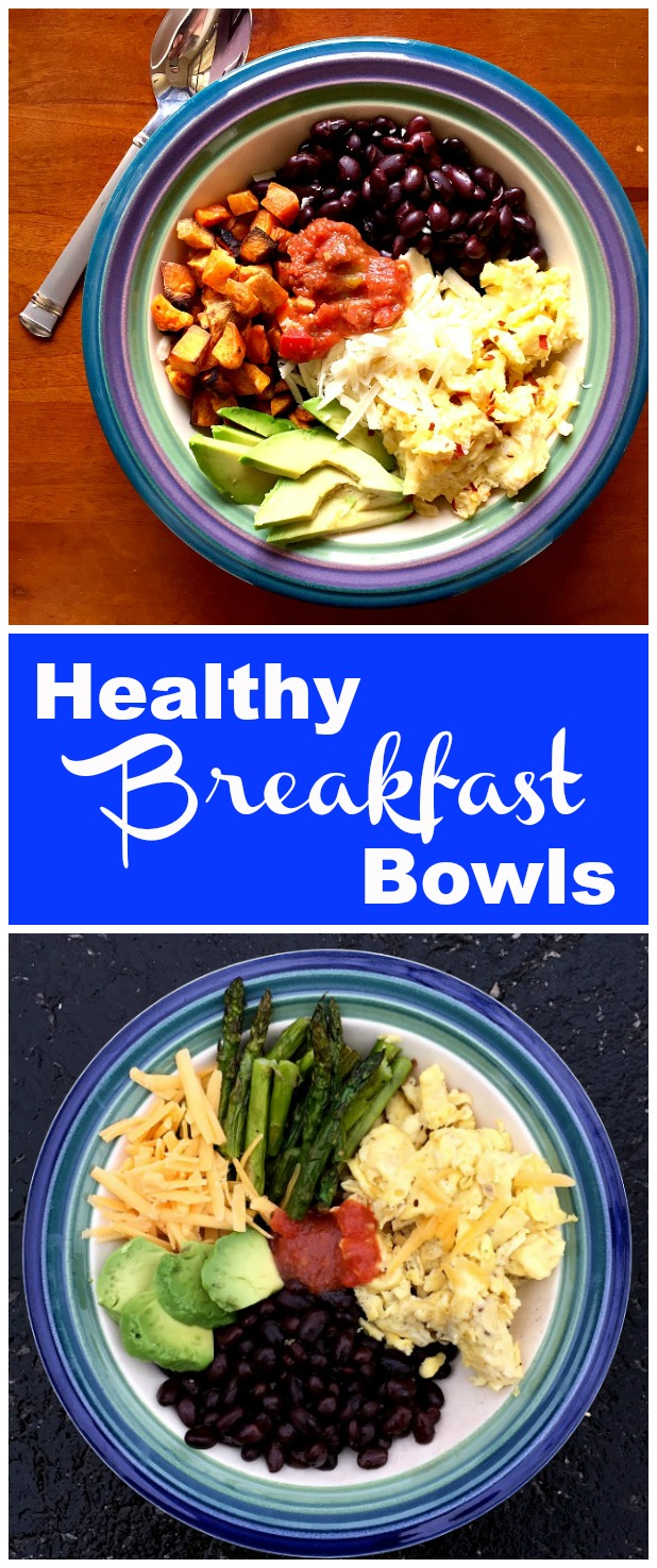 These scrambled egg breakfast bowl are a quick, easy and nutritious way to start your day. Mix and match your ingredients to keep it fresh and fabulous.