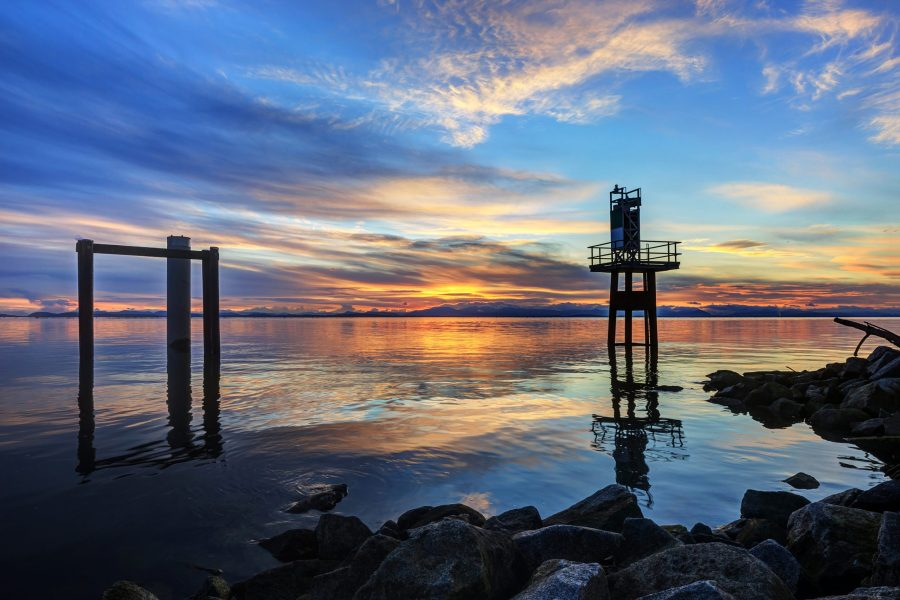 Sunset view in Richmond, BC, Canada
