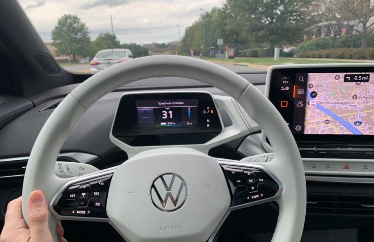 45 minutes on the road in a prototype Volkswagen ID.4 electric car