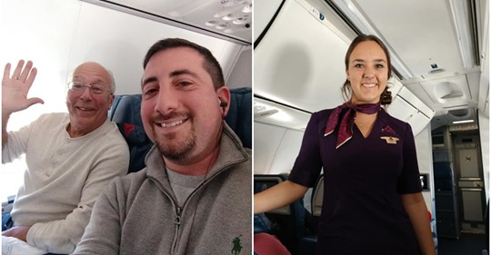 Dad Books 6 Flights So His Flight Attendant Daughter Won't Be Alone On Christmas