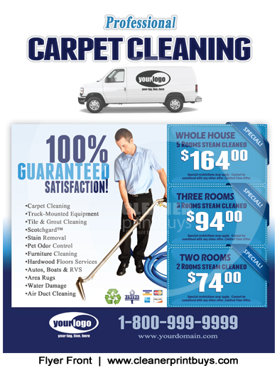 Carpet Cleaning Flyer 85 X 11 C1001