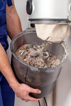 Dirt from central vac system
