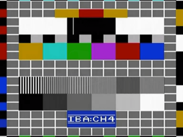 PICTURED: Channel 4 ETP-1 test card.