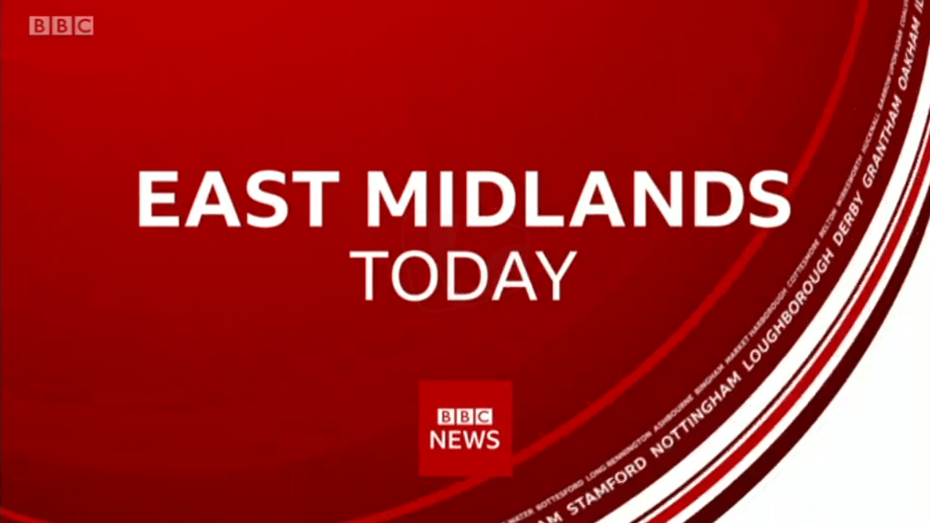 PICTURED: BBC East Midlands Today opening titles.