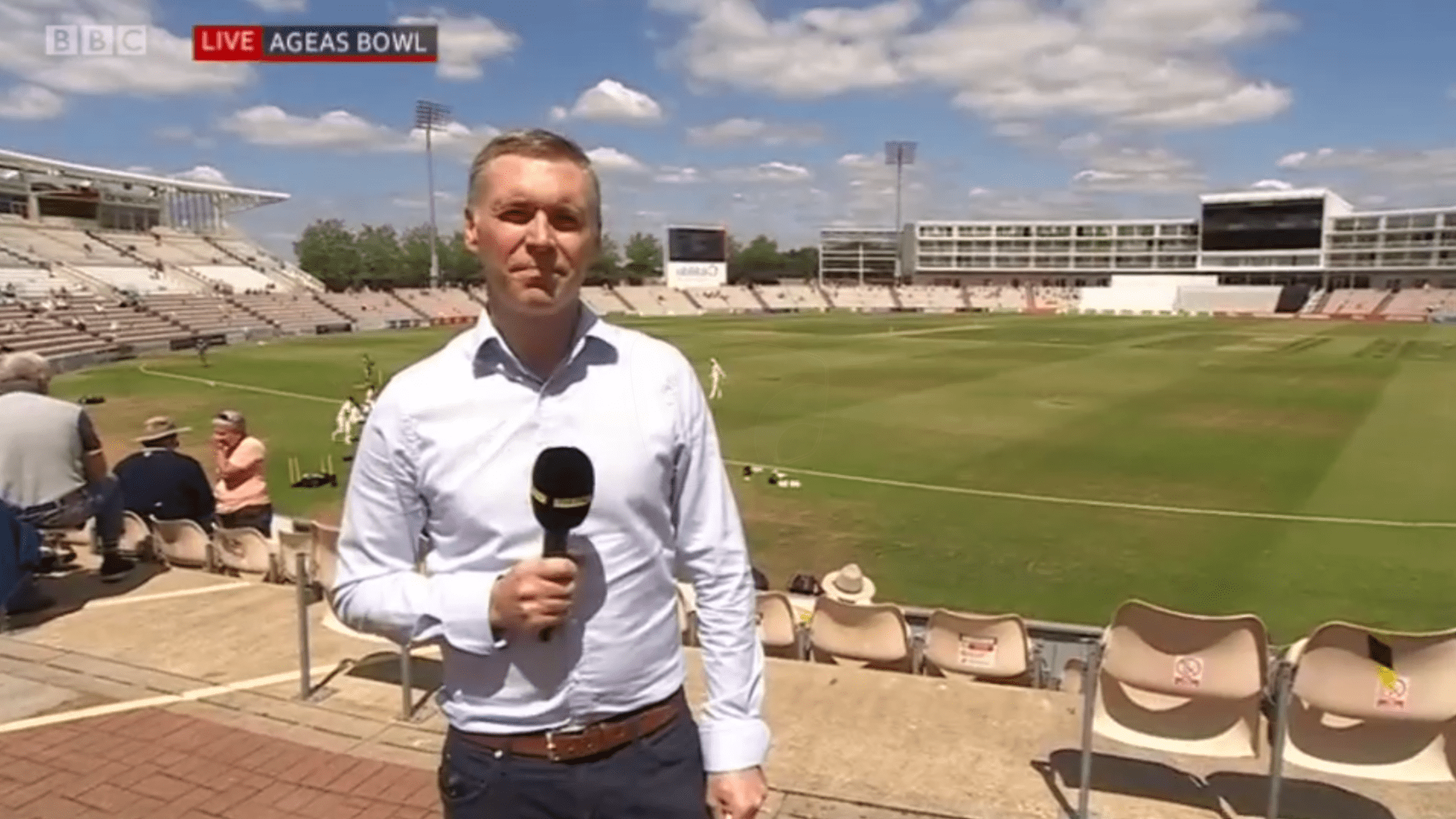PICTURED: BBC South Today live/location bug. Reporter: TBC.