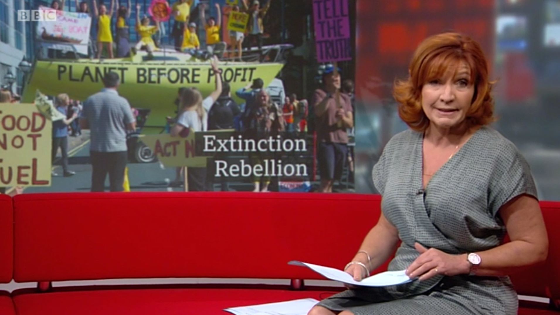 PICTURED: BBC Look North studio presentation and visual journalism. Presenter: Clare Frisby.