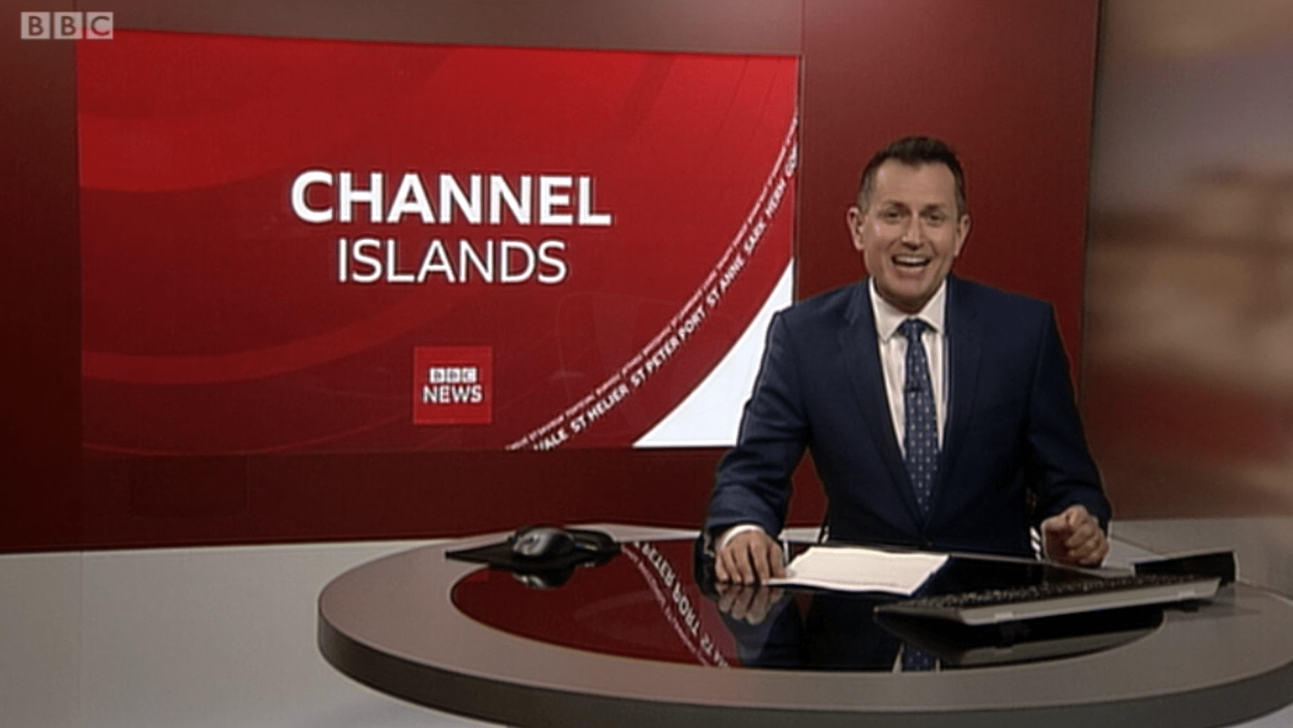 PICTURED: BBC Channel Islands studio presentation. Presenter: TBC.