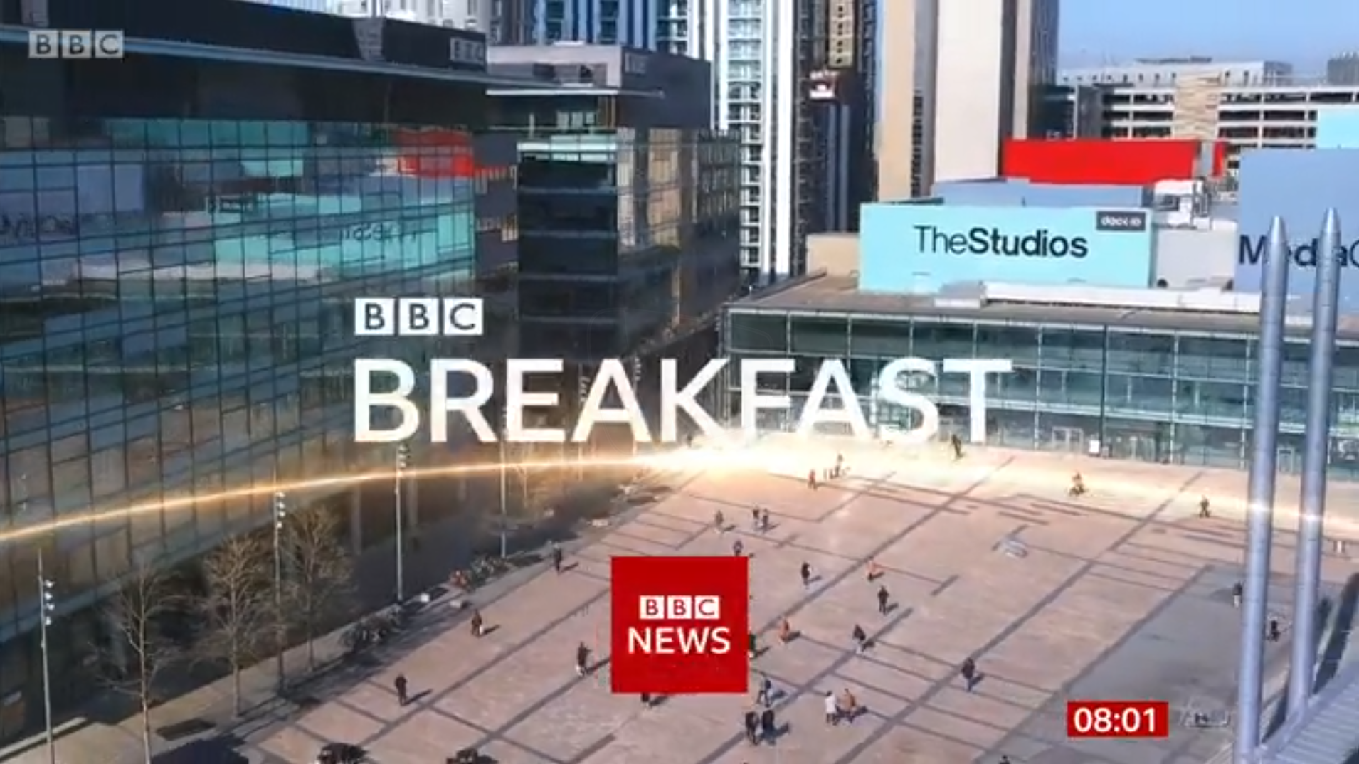 PICTURED: BBC Breakfast opening titles.