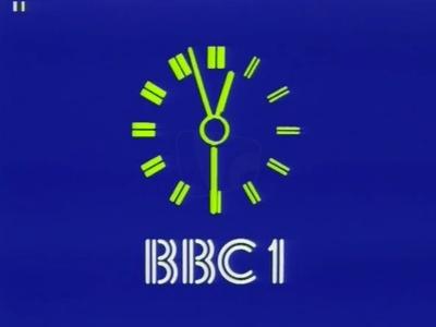 PICTURED: BBC One clock.