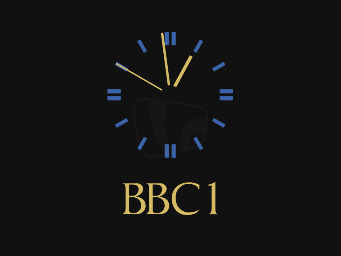 PICTURED: BBC One 1985 clock (recreation).