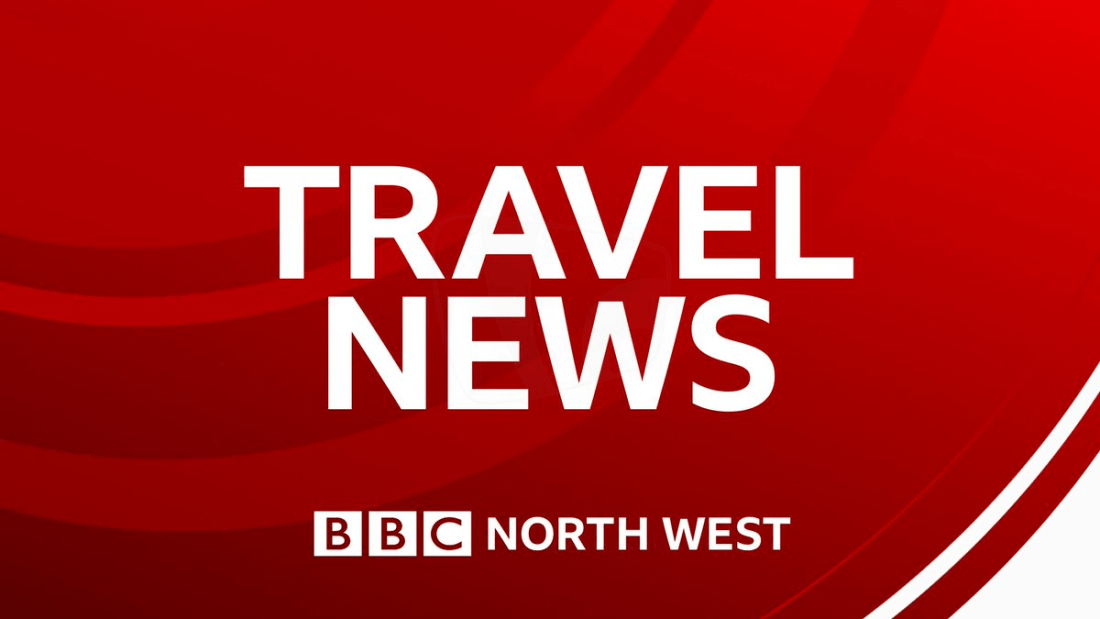 PICTURED: BBC North West Travel News graphic on social media.